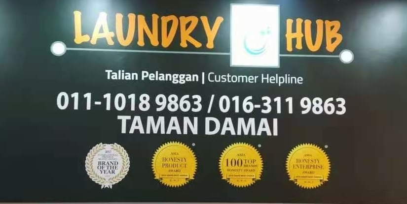 A new LaundryHub outlet is now ready operate at Taman Damai